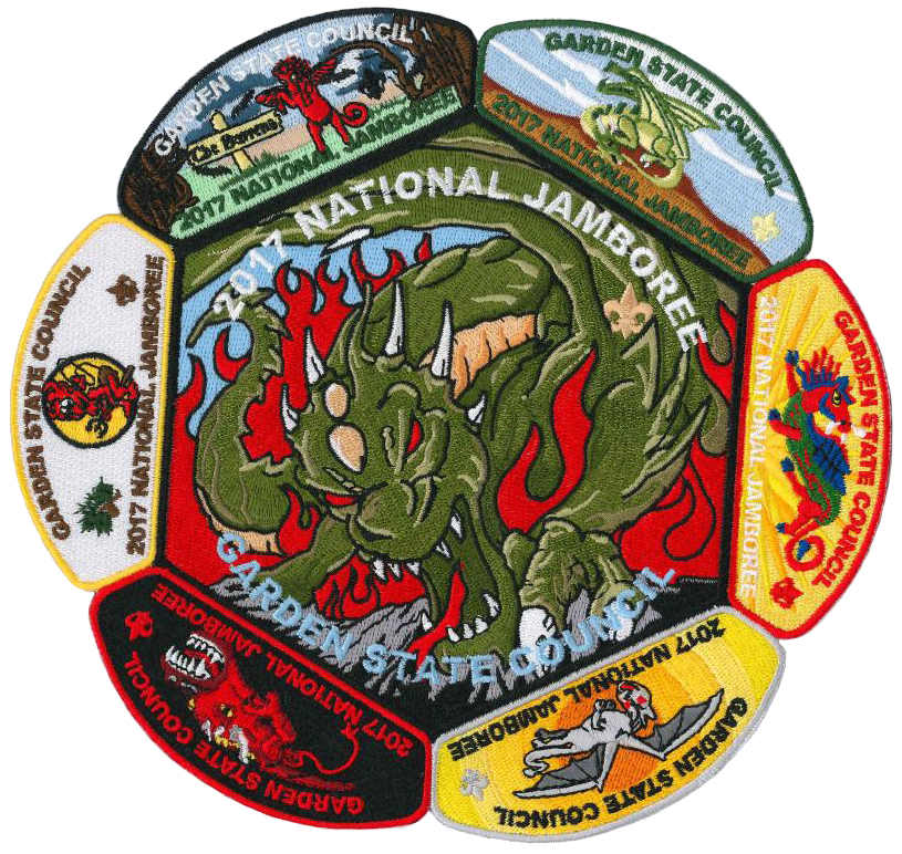 2017 Jamboree Garden State Council Jacket Patch Set One